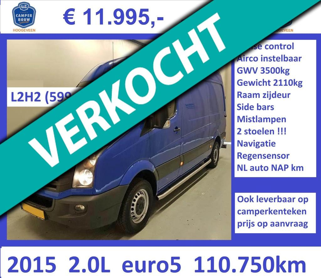 Volkswagen Crafter 2015 2.0L 109pk L2H2 cruise airco 110.750km !!!