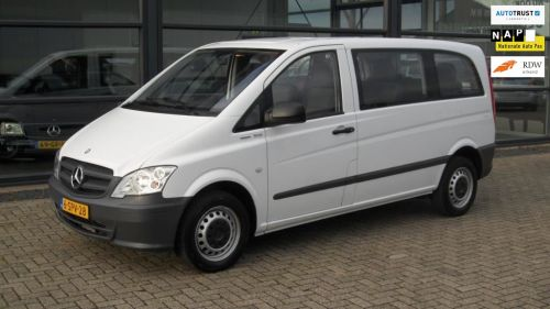 Mercedes-Benz Vito 110 CDI 320 Crew LEASE: V.A. 235,- P/MND 9 Persoons uitvoering, zeer net,