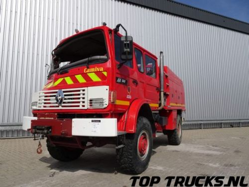 Renault M180 Midliner 4x4 fire brigade - brandweer - watertank 2500 - Ongeval, Unfall, Accident!!