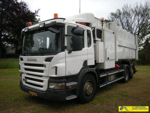 Scania P 230 B 6X2*4 huisvuilwagen zijlader
