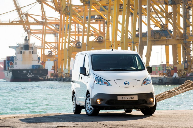 Nissan E-NV200 geheel elektrisch bedrijfswagen. 8 April 2014