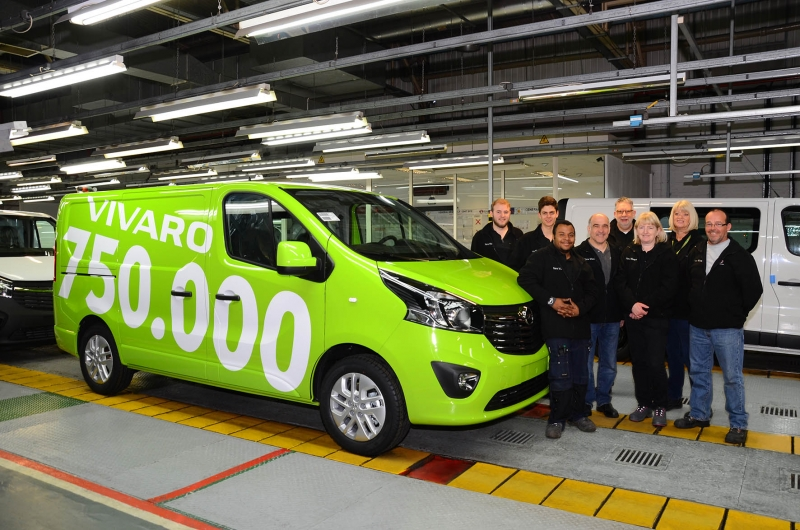 Opel Produceert 750.000ste Vivaro Bedrijfswagen