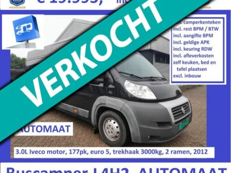 Fiat Ducato 2012 3.0L 177pk AUTOMAAT L4H2 Cruise Airco 2x airbag