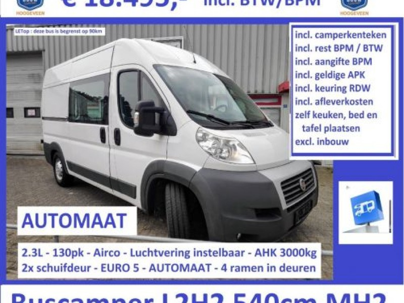 Fiat Ducato 2013 2.3L AUTOMAAT l2h2 airco 2x Airbag!! luchtvering