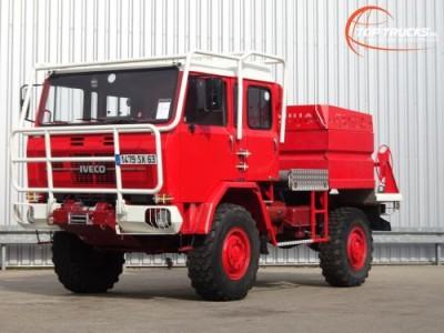 Iveco Unic 80.160 4x4 -Feuerwehr, Fire brigade -1.750 ltr watertank - 3,5t. Lier, Wich, Winde -, Expeditie, Camper
