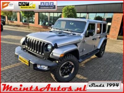 Jeep Wrangler 2.2D Sahara Unlimited 200Pk OUTLAW 4WD, MOPART LV MUD, LEDER, BOMVOL OPTIE !!! GRIJS KENTEKEN
