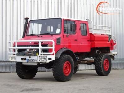Overige merken U 1550 L 4x4 Unimog U1550 L (437) Mercedes Benz, Doppelkabine, SIDES CCF2000 ltr. - Expeditievoertuig, Camper