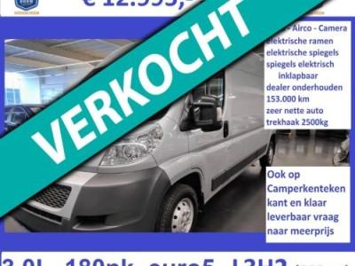 Peugeot Boxer 2013 - 3.0L - 177pk - L3H2 - zilver - Euro 5 - airco
