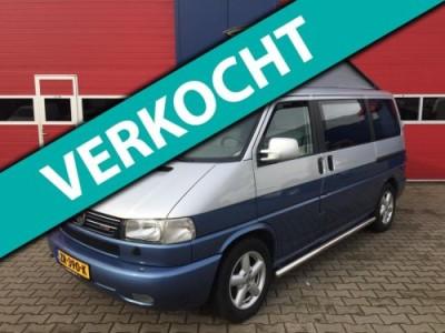 Volkswagen Transporter Caravelle 2.5 TDi 292 Comf.BUSCAMPER 7 PERSOONS OP KENTEKEN MET GORDELS GROOT PLAT HEFDAK TWO TONE UITV.